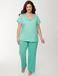 Stripes & dots sleep set by LANE BRYANT
