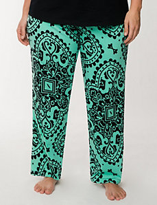 Scroll print sleep pant by LANE BRYANT