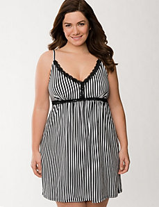 Striped knit chemise by LANE BRYANT