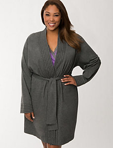 Cotton wrap robe by LANE BRYANT