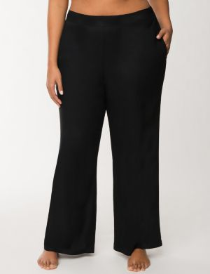 Woven palazzo pant swim cover-up