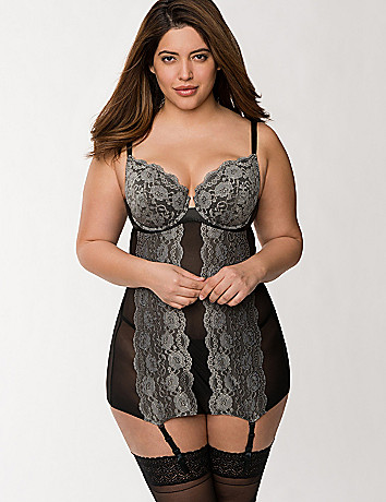 Mesh & lace merry widow