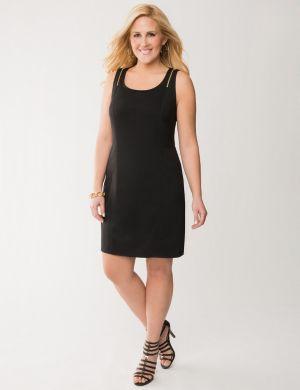Zip shoulder sheath dress