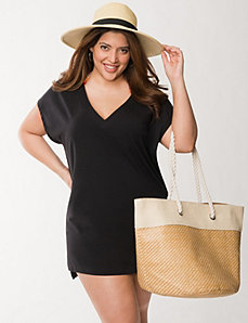 Swim cover-up tee by COCOS Swim by LANE BRYANT
