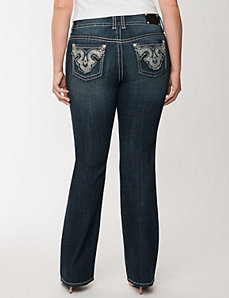 Embellished slim boot jean by Seven7 by LANE BRYANT