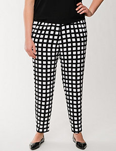 Square print crepe pant by LANE BRYANT
