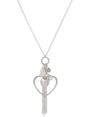 Heart cluster pendant necklace by Lane Bryant