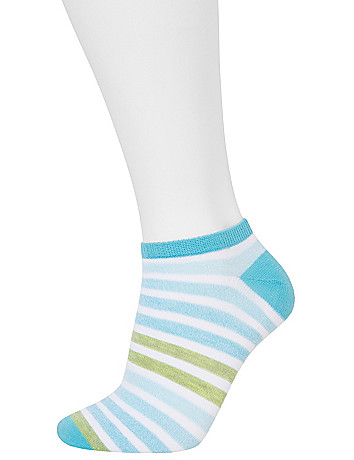 Heather Striped Sock 3 Pack by Lane Bryant