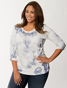 3/4 sleeve crinkled top by Seven7