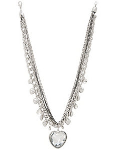 Mirrored heart pendant necklace by Lane Bryant