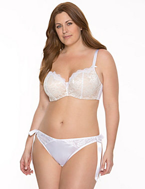 Beautiful bridal balconette bra ensemble