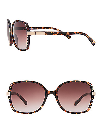 Animal print sunglasses with rhinestones