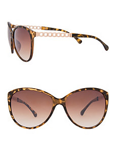 Chain accent sunglasses by LANE BRYANT