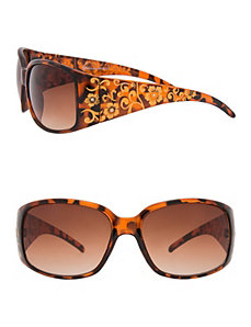 Animal sunglasses with foil accents