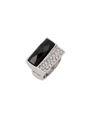 Cubic zirconium & stone ring by Lane Bryant