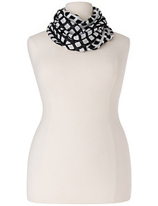 Checkered eternity scarf by LANE BRYANT