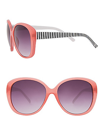 Striped color pop sunglasses