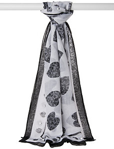 Studded heart scarf by LANE BRYANT