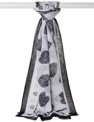 Studded heart scarf