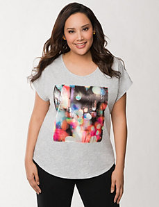 NYC lights tee by LANE BRYANT