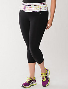 Capri legging with printed waist