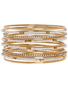 12 row beaded bangle bracelets by Lane Bryant