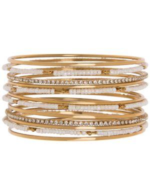 12 row beaded bangle bracelets by Lane Bryant