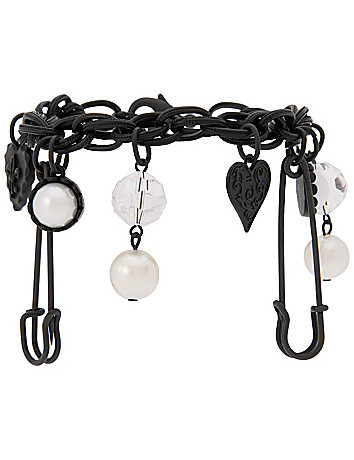Punk charm bracelet by Lane Bryant