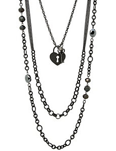 3 in 1 heart chain necklace by Lane Bryant by LANE BRYANT