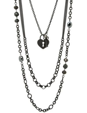3 in 1 heart chain necklace by Lane Bryant