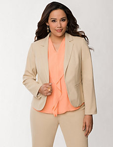 Oxford weave kissing jacket by LANE BRYANT