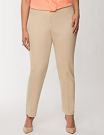 Lena Oxford weave ankle pant