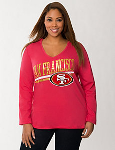 San Francisco 49ers hooded tee by LANE BRYANT