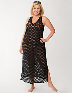 Lace maxi cover-up