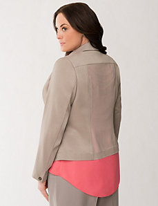 Lane Collection chiffon back jacket by LANE BRYANT