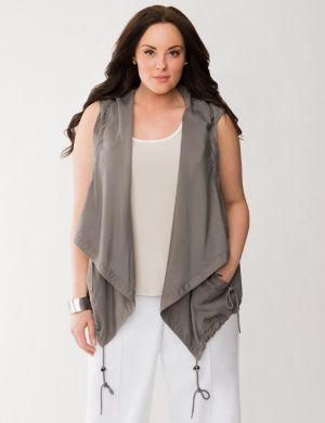 Lane Collection draped vest