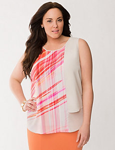 Lane Collection blocked woven tank by LANE BRYANT