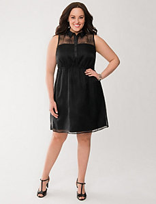 Illusion shirt dress by LANE BRYANT