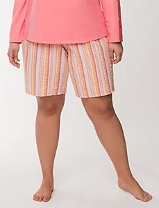 Striped Bermuda sleep short by LANE BRYANT
