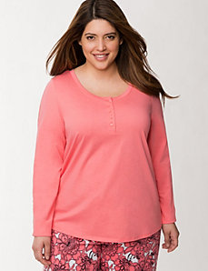 Lace sleeve sleep top by LANE BRYANT