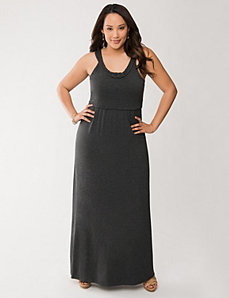 Braided neck maxi dress by LANE BRYANT
