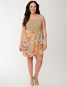 Printed tulip dress by LANE BRYANT