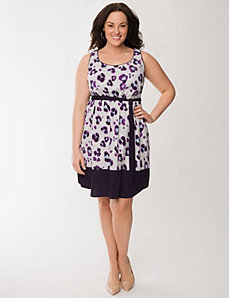 Floral tie waist dress by LANE BRYANT