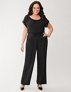 Short sleeve jumpsuit by LANE BRYANT