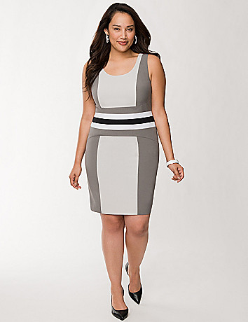Paneled sheath dress
