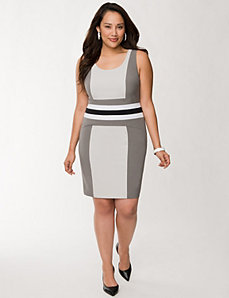 Paneled sheath dress by LANE BRYANT