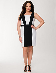 Pieced sheath dress