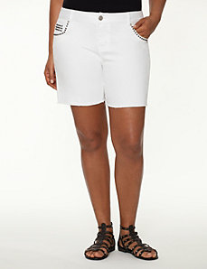 Studded Weekend short by LANE BRYANT