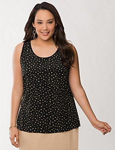 Printed woven front tank by LANE BRYANT