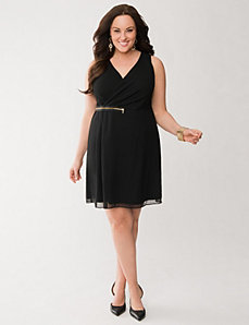 Chiffon zipper dress by LANE BRYANT